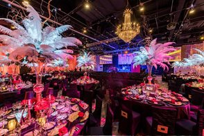 Ballroom themed event at Universal Studios Hollywood.