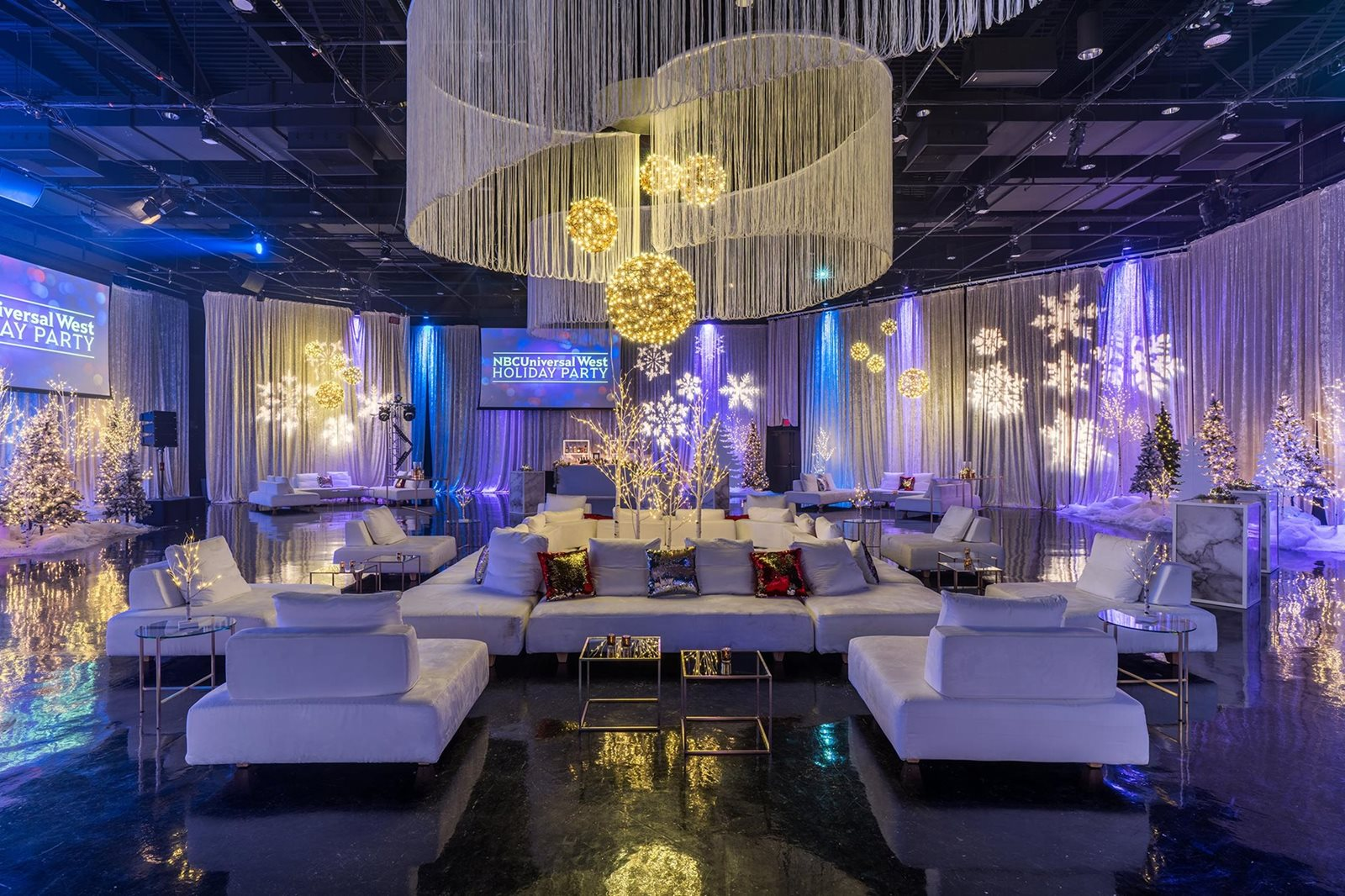 Holiday Corporate Event Setting.