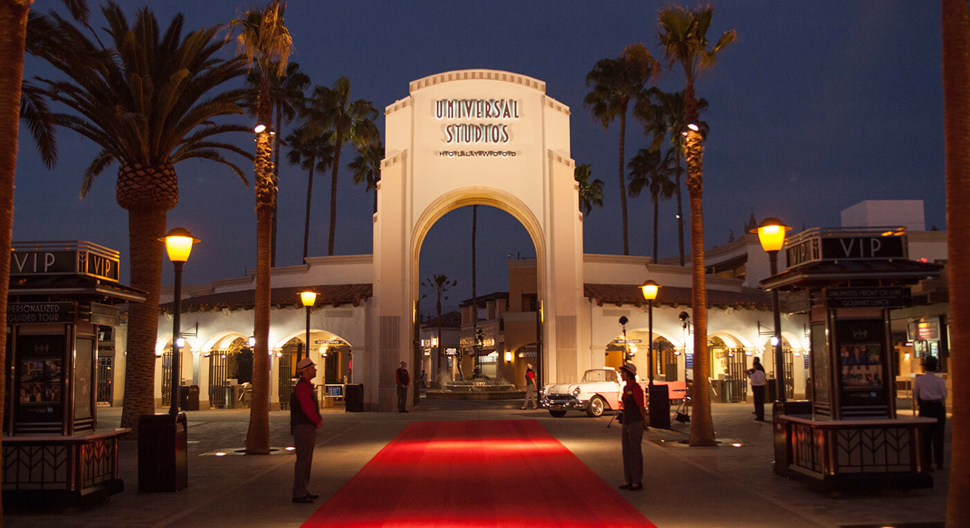 Universal Studios Hollywood Main Entrance.