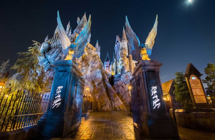 Harry Potter and The Forbidden Journey ride at Universal Studios Hollywood