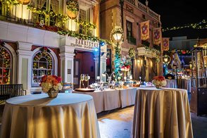 Private event inside French Street at Universal Studios Hollywood.