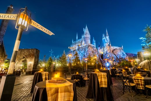 Hogwarts Night Event inside the Wizarding World of Harry Potter